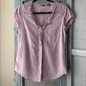 Eddie Bauer purple blouse